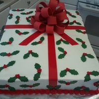 Present Cake This present cake was done for one of the comanys in my husbands commands Christmas party.