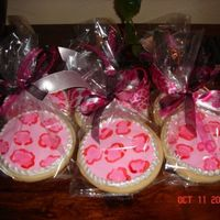 Pink Leopard Cookies BIG THANKS TO BELLEJOEY!!! I love here leopard cookies and couldn't wait to try a batch myself. Made to go with a birthday cake for an...