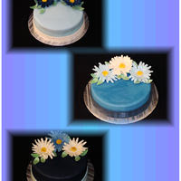 Daisy Cakes These are 3 of the cakes I did for center pieces at a wedding. There are 16 cakes total all different flavors (I can't remember which...