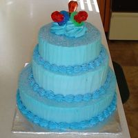 Denim To Diamonds This was for a young lady who was moving from young adulthood to womanhood.It was a three layered marble cake with buttercream icing. There...