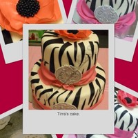21St Zebra Stripe Birthday Cake
