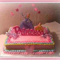 Princess Minddy   Butter cake, BC frosting, pineapple filling