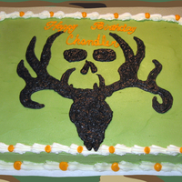 The Bone Collector Logo 1/2 sheet with The Bone Collector logo all in buttercream...