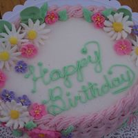 Pastel Birthday Cake This is one of my favorites - (even though I made it for my mother-in-law's birthday! lol). Just loved the way the colors all worked...