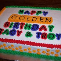Golden Birthday This one was for my sister-in-law's brother and sister who both celebrated their golden birthday's this year. It is also one of...