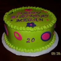 Lime Green Birthday Cake