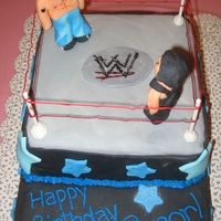 Wwe Birthday Cake   Top Detail