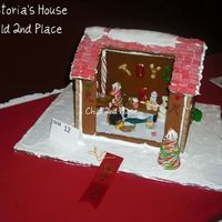 Back Of The Gingerbread House. She decorated the inside with all sugar & candy premade bought stuff.
