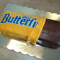 Butterfinger Cake  This Butterfinger Cake was a surprise birthday cake for someone's who loves Butterfinger Candy Bars. It was a lot of fun to make!...
