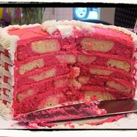 Pink Checkerboard Baby Shower Cake