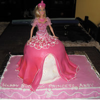 Abby B-Day Cake Made a Barbie cake for my niece's birthday. Hand carved rather than a pan for the dress.