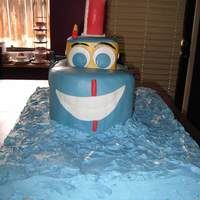 "Tugboat Cake Made for a boy's first birthday. Thought a tugboat would be cute to make. Also in some of the pictures is a 6"" I was asked to..."