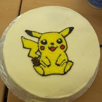 Diana's Pikachu Cake My first cake from Wilton Course 1.