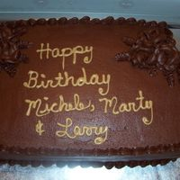 Chocolate Lovers Dream This birthday cake is all chocolate with ShirleyW, peanut butter filling and serious_cakes, chocolate buttercream .The aroma of the...