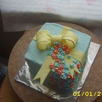 Gift Cake I made this cake for my son's teacher's birthday as a gift. I am bringing it to her in about 20 minutes. I really hope she likes...