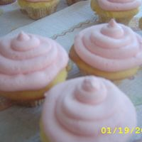 Simple Cupcakes Simple yellow cake cupcakes with strawberry flavored buttercream. Actual date- 3/15/07