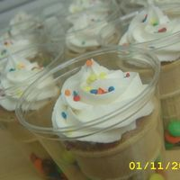 Ice Cream Cone Cupcakes Completely inspired by JennT .Made for my son's kindergarten class for the end of the year field day.Bannana cupcakes with mini...