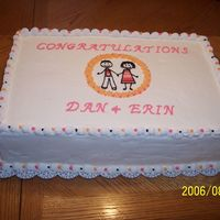 Engagement Party This was a very heavy cake. The first cake I ever did that was for a function.