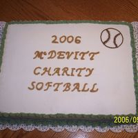 Softball Dessert This cake was fun to do and as with any, learned some.