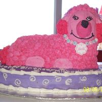 Pink Poodle my first real cake for someone else