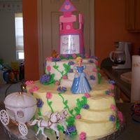 Princess Cake idea from a picture little girl's mom sent me