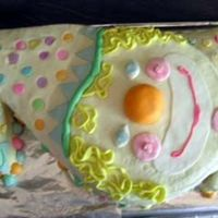 Clown Cake Buttercream with fondant details