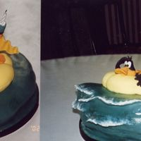 Daffy Duck At Sea This was a cake I made many years ago for my son's birthday. It was very easy to do and my son loved it.