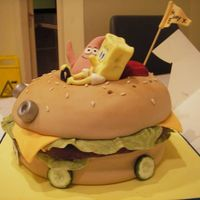 Spongebob - The Movie Another view. My son loved this cake!