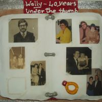 Photo Album Photo album for a 40th anniversary, pictures over the years also with the stain of the missing photo