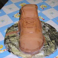 Justin's Boot This cake started out to be the nike cake that karennayak sent me the instrutions for (big thank you karen) but as I was working on it my...