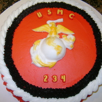 Marine Corps I made this cake for my husband, a former marine, to celebrate the Marine Corps Birthday.