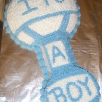 It's A Boy! I'm new to cake decorating so I got ideas for this cake from others here at CC. It's not perfect, but I like the way it turned...