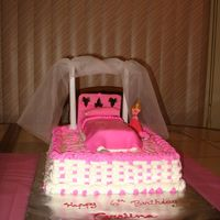 Sleeping Beauty This was made for my niece's sixth birthday. The cover for the bed and pillow were made with marshmallow fondant. The rest was made...
