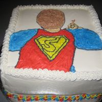 "Super Dad  I made this cake for the Super Dad's in my life. I drew the ""Super Dad"" on paper and then used the pin prick method to put..."
