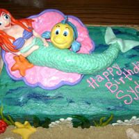 Little Mermaid Round 2 2nd Little Mermaid cake for the same little girl (she was sick on her birthday). Her mom had me scale it down a notch so every piece was...
