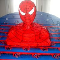 Spiderman 3-D Cake I am not a cake professional, so please be considerate! :~) I only do themed cakes for my son and daughter's birthdays. I used the...