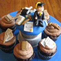 Law School Graduation Cakes I made these cupcakes for a friend's husband's graduation from law school. The large cupcake and small cupcakes are both the Mini...