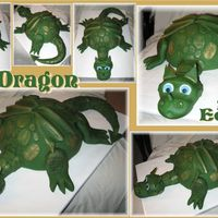 Dragon Debbie Brown's design, slightly modified. The body is made of red velvet cake, while fondant is used to create everything else. Some...
