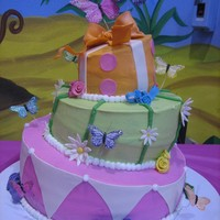 Whimsical Garden a co-worker of my asked if I can make her daughter's first birthday cake and gave me a pic of a cake store logo which was the cake....