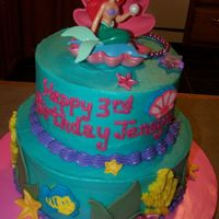 Little Mermaid   Browsed the cake central galleries for ideas to decorate this one--thanks forall the ideas.