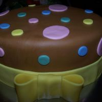 Easter   MMF covered oval cake