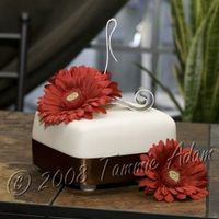 "Gerbera Daisy Practice Cake This is just a 6"" practice cake. It's what will be the top tier of my first wedding cake that I'll be making next month. I..."