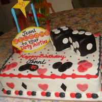Las Vegas Cake  Las Vegas cake for my customer who love Las Vegas. Chocolate cake with buttercream icing. Fondant Las Vegas sign and RKT for the dice...