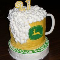 "John Deere Mug I originally posted this in the cake disasters board. The ""froth"" on the side is actually covering the side of the cake that fell..."
