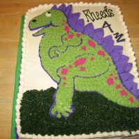 Roar! All BC except for the dinosaur's scales which I made out of fondant.