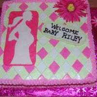Baby Shower Cake white almond sour cream with fondant and gumpaste accents
