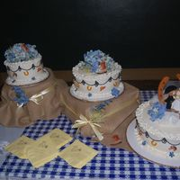 Western Wedding we did 3 different flavors... wasc, red velvet and marble