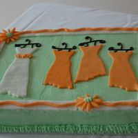 Meagan's Shower Cake #2 cheesecake flavored cake for a wedding shower. Love this design.. think I got the idea from this site... wish I could give credit where...