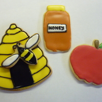 Rosh Hashanah Cookies Honey, apple and beehive for Rosh Hashanah