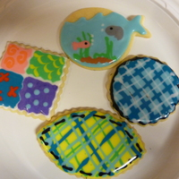 Cookies A few cookies I made with some extra dough and icing. (Toba's glace). The plaid and quilt were an attempt to copy psneed5's...